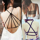Sexy Womens Crop Tops Summer Strap Backless Blouse Vest Cut Out Shirt Beach Tank