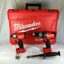 "Milwaukee FUEL M18 1/4"" Brushless impact Drill & Hammer Drill with 2 PC Case NEW"