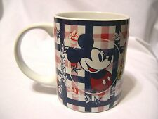 DISNEY Jerry Leigh True American Classic MICKEY MOUSE Coffee cup mug  redwhitebl