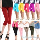 Lady Women Sexy Seamless Basic Yoga Solid Stretch Tights Skinny Cropped Pants