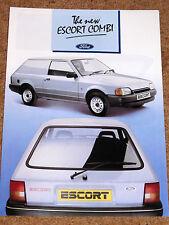 1986 The New FORD ESCORT COMBI VAN Sales Brochure