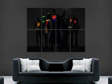 COMIC BOOK HEROES SUPERMAN BATMAN   LARGE  WALL PICTURE POSTER  GIANT