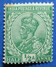 1912 INDIA 1/2A SCOTT# 81 S.G.# 155 UNUSED NH   CS11117