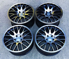 "18"" CH MESH DESIGN black polished ALLOY WHEELS 5X112 FITS VW GOLF MK5 6 7 CADDY"