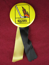 Vtg Vancouver Blazers Ice Hockey Team Pinback button with Ribbon RARE!