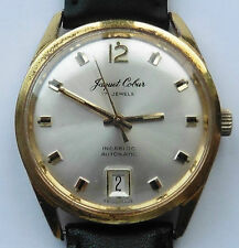 1970s Gents GP Jaquet Cobur by Trafalgar Automatic Date magnifier Watch Serviced