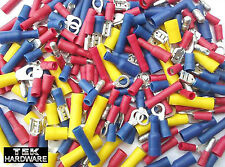 MIXED CRIMP TERMINALS. 200 Pack .. Spades, Rings, Butts