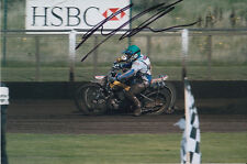 PAUL COOPER HAND SIGNED SCUNTHORPE SCORPIONS SPEEDWAY 6X4 PHOTO 1.