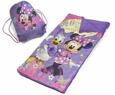 Toddler Sleeping Bag Disney Minnie Mouse Slumber Mat Preschool Sleepover Nap Set
