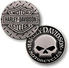 Harley Davidson Diamond Plate / Willie G. Skull - Nickel Challenge Coin
