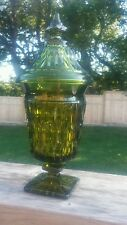 Vintage Tall Green Glass Candy Dish