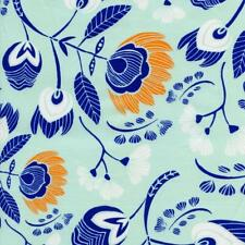 Flora's Oasis Naranja Whispy Floral Mint Navy Tule Quilt Sew Fabric ART GALLERY