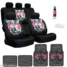 New Cool Tiger Face Logo Seat Covers And Mats Complete Set With Gift For Nissan