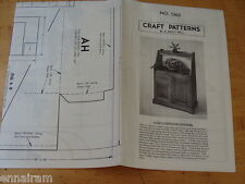 Woodworking Craft Pattern #1362 by Hall Light Garden Cabinet, Colonial  Dry Sink
