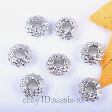 5,000 Pieces 6*4mm Beads Tibet Silver Charms DIY Jewelry Bead Round Spacer A7005