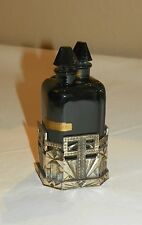 Art Deco French Black Glass Double Perfume Bottle. Early 20th Century.