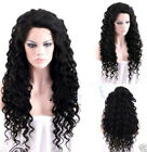 Fashion Women Long Curly Wavy Black Heat Copslay Party Natural Full Hair Wigs