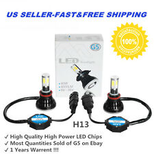 2PC HID 6000k White 9004 HB1 High Power LED Headlight Bulbs Light Conversion Kit