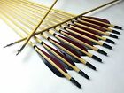 12PK Hunting Archery Wood Arrows Turkeys Feather For Longbow Recurve bow 11/32