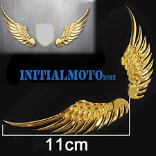Car SUV Sedan Golden Angel Wings Metal Trunk Lid Rear Emblem Badge Decal Sticker