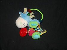 Playgro Clip Clop Blue Horse Baby Rattle Ring Mirror Toy Developmental 7""