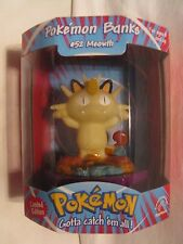 Pokemon Meowth Bank MINT Unopened *RARE* Nice Item 1999 Applause Linkable