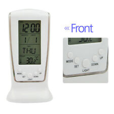 Digital Backlight LED Display Clock Table Alarm Snooze Thermometer Calendar New