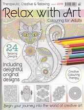 Relax With Art: Issue 2 - Art Therapy - Adult Colouring Book - NEW