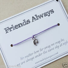 Special friend charm bracelet - miss you / friendship / across the miles gift