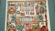 Needlepoint Artwork Farmer's Market Country Kitchen Featuring Longaberger