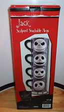 THE NIGHTMARE BEFORE CHRISTMAS 4 JACK SKELLINGTON SCULPTED STACKABLE MUGS/MUG