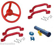 PLAYGROUND PACK Telescope Set Steering Wheel Handles Park Outdoor Playset KIT 3