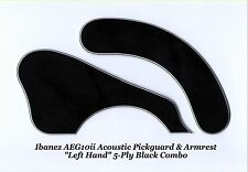 Ibanez AEG10ii LEFT HAND Blk 5-Ply Pickguard/Armrest Acoustic Guitar Project NEW