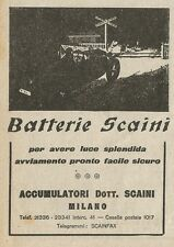 W3508 Batterie SCAINI - Pubblicità 1929 - Advertising