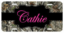 Personalized Monogrammed License Plate Auto Car Tag Camo Pink