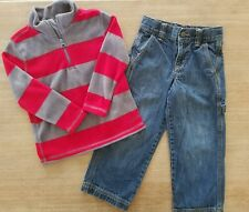 Boys Outfit Size 4T GAP Fleece Sweater & Old navy Jeans Set Lot