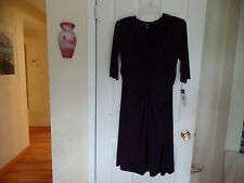 CHAPS  BEAUTIFUL DEEP PURPLE DRESS NWT SZ 16