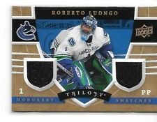 ROBERTO LUONGO 2008-09 UD TRILOGY HONORARY SWATCHES DUAL  GAME USED  JERSEY