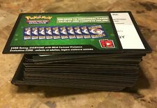 100 Sun & Moon Pokemon TCG Online Booster Pack Code Cards Unused