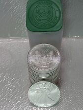 2003 - 1 Original Vintage Roll of 20 Coins American Silver Eagle 1 Troy Oz .999