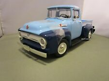 ERTL 1/18 BLUE 1956 FORD F-100 PICKUP TRUCK VERY NICE DISCONTINUED NO BOX