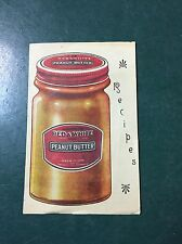 Vintage Red & White Peanut Butter Recipe Pamphlet (411)