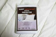 2X TERRY COTTON POLYESTER WATERPROOF PILLOW PROTECTOR QUEEN SIZE
