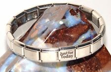 Alcoholics Anonymous AA NA Just For Today Italian Bracelet Stainless Polished