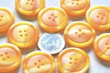 "lot de 5 gros boutons ronds "" orange marbré ""  26mm mercerie couture button"
