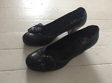 Sciapo Pretty Navy Blue Leather Heels 38.5 /  8.5 Made in Italy Chie Mihara $350