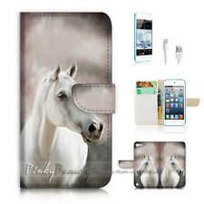 iPod Touch 5 iTouch 5 Flip Wallet Case Cover! P0583 Horse