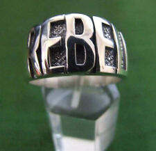 Stainless Band Rebel Biker Ring Custom Size Bold Letters Cycling Chopper R-97ss