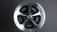 "15"" INCH HERITAGE VN501 WHEELS 1-PIECE 15X7 15X8 RIMS GLOSS BLACK MACHINED"