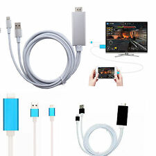 2m AV HDMI/HDTV TV Cable Adapter for iPad 4 mini Air/Air 2 Pro WiFi+Cellular